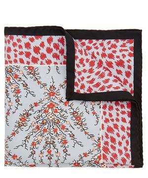 Eluard Printed Silk Pocket Square