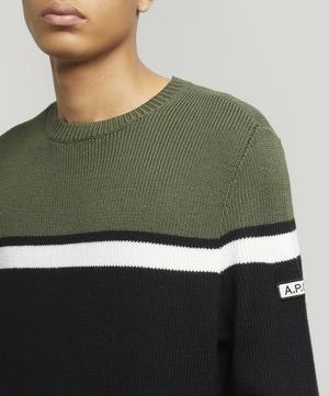 Mick Block Stripe Merino Wool Jumper