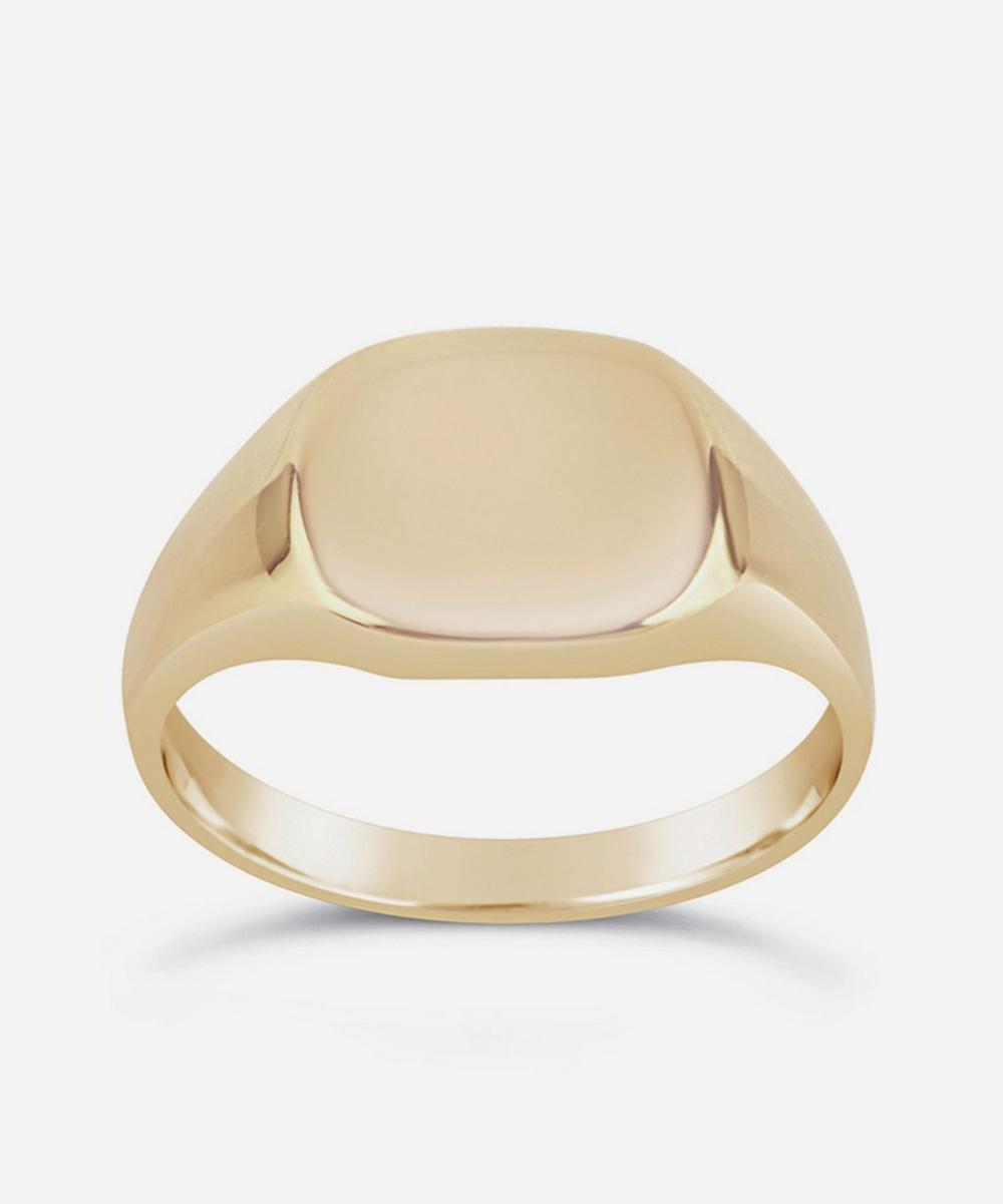Dinny Hall - 10ct Gold Cushion Signet Pinky Ring