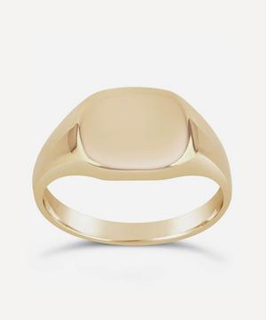 10ct Gold Cushion Signet Pinky Ring