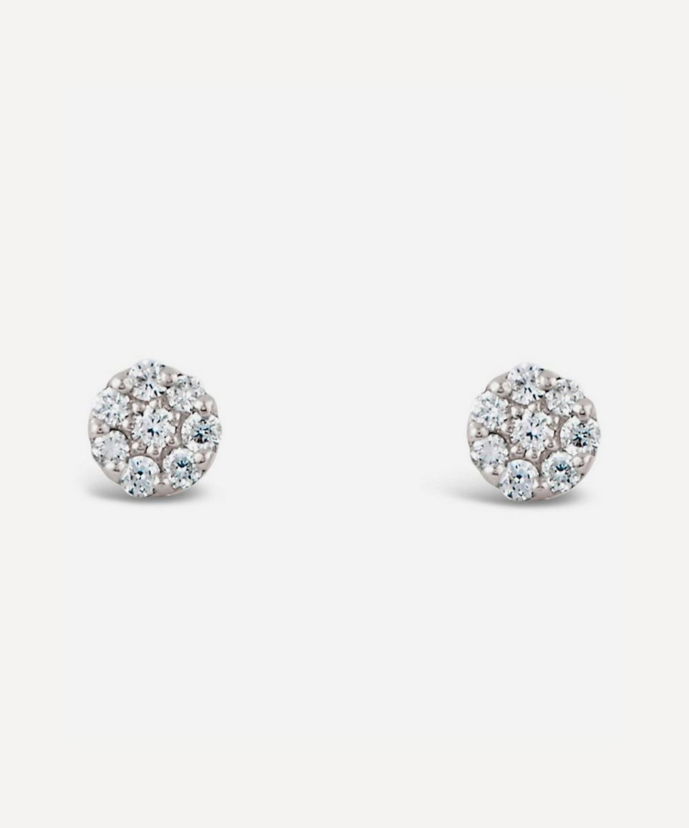 White Gold Shuga Mini Pavé Diamond Stud Earrings