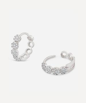 White Gold Shuga Pavé Diamond Huggie Hoop Earrings