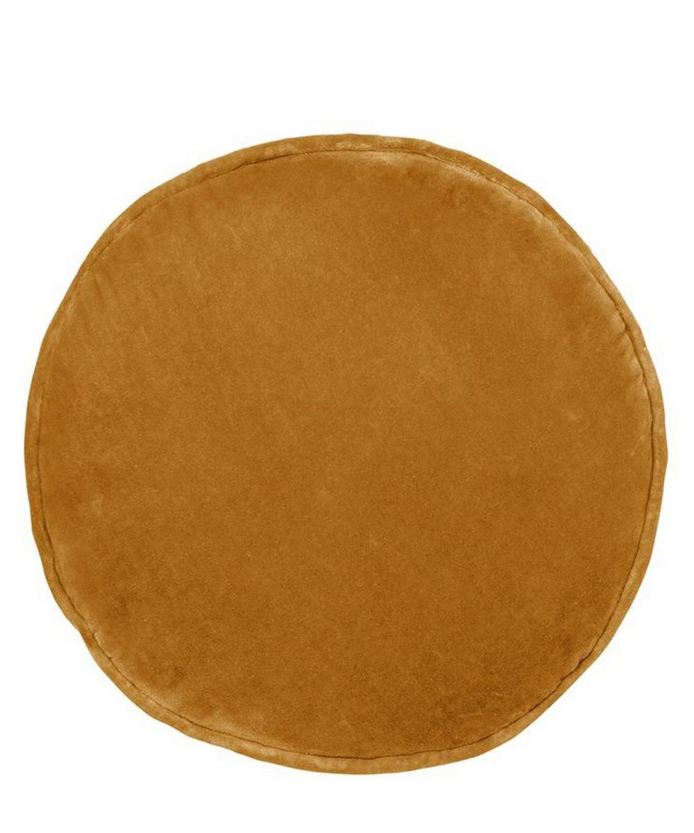 Butterscotch Penny Round Cushion