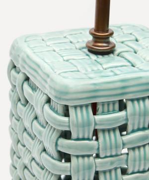 Ceramic Basket Weave Lamp Base