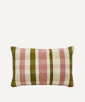 Gingham Chindi Rectangular Cushion