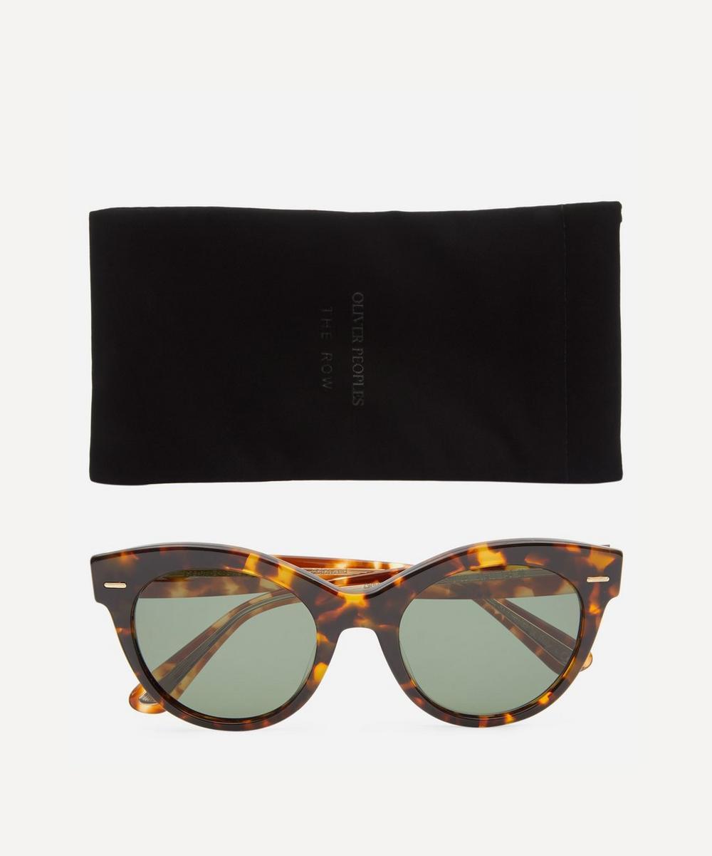 The Row Georgica Rounded Tortoiseshell Sunglasses