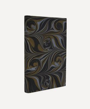 A5 Leather Marbled Notebook