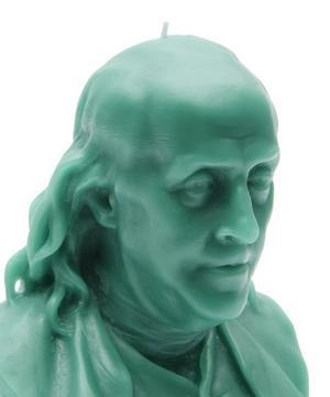 Benjamin Franklin Wax Candle Bust