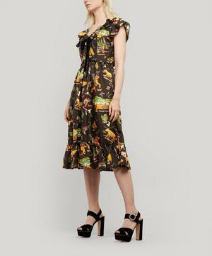Rio Rodeo-Print Silk-Satin Dress