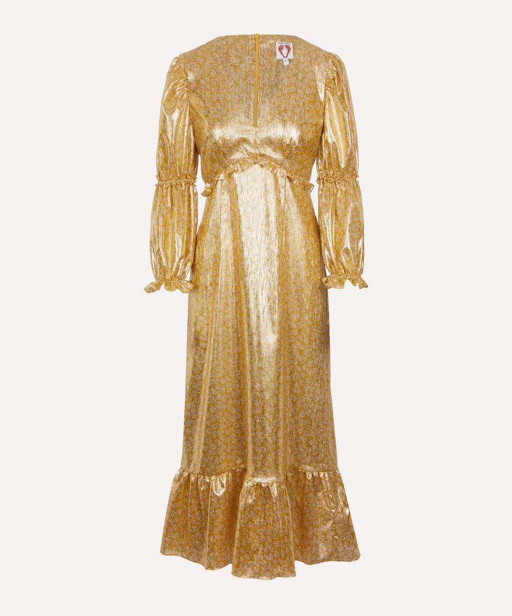 Rosemary Foil Midi-Dress