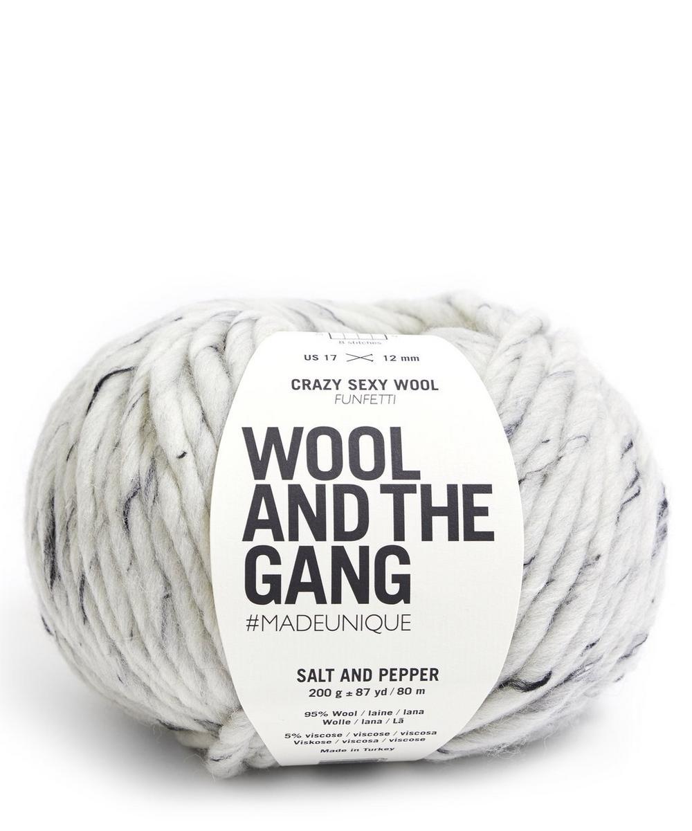 Crazy Sexy Wool Funfetti Salt and Pepper Yarn