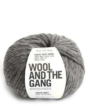 Crazy Sexy Wool Tweed Grey Yarn