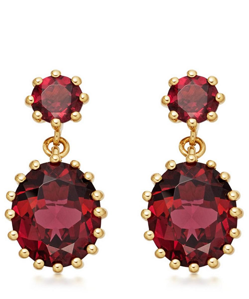 Gold Vermeil Linia Rhodolite Drop Earrings