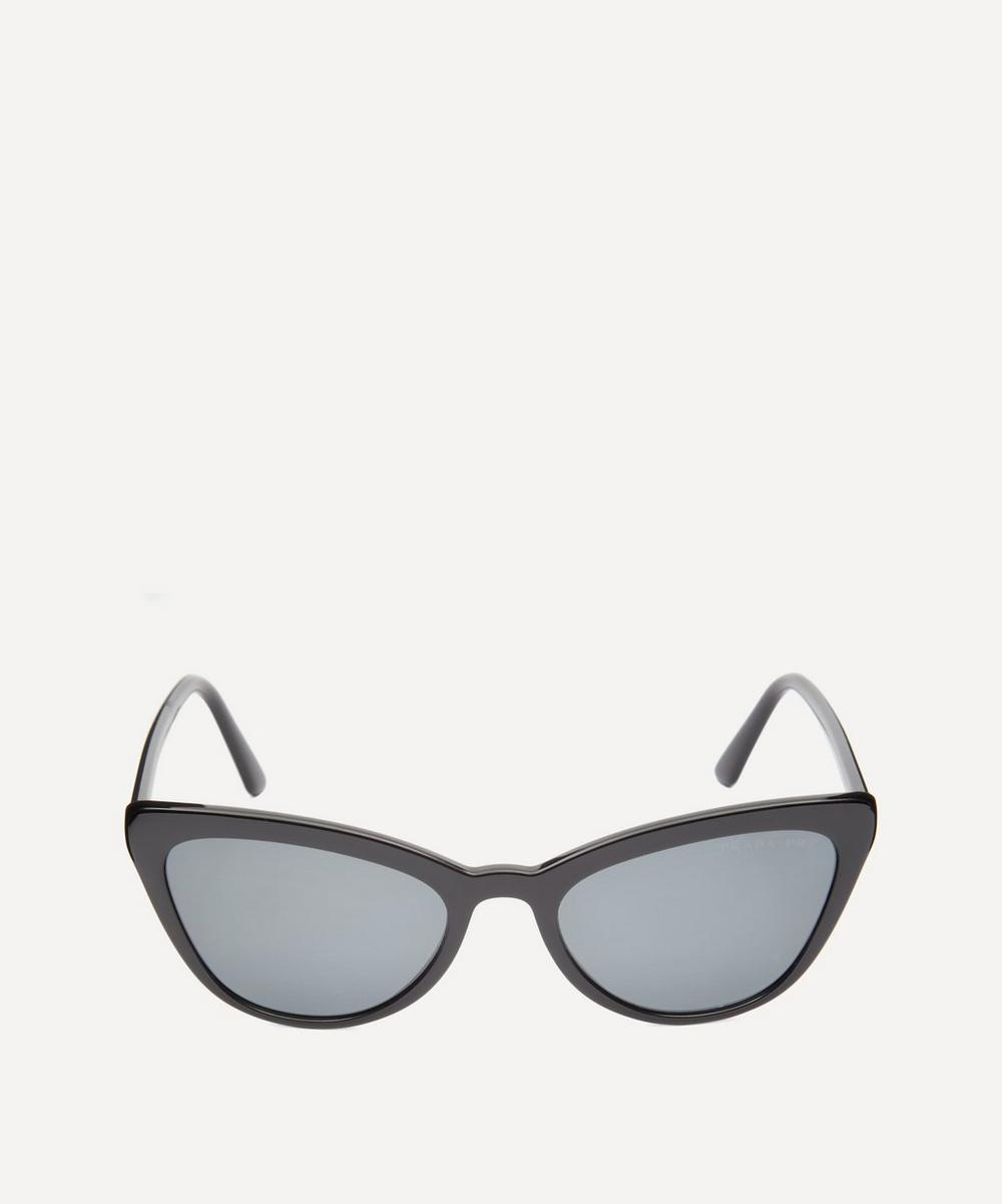 Oversized Acetate Cat-Eye Sunglasses