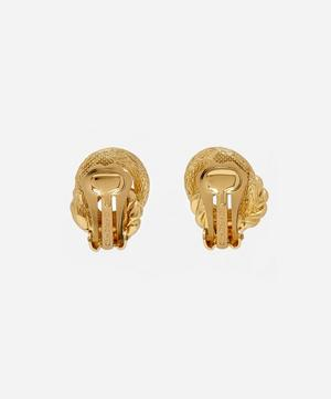 Gold-Plated Dior Knot Rope Clip-On Earrings