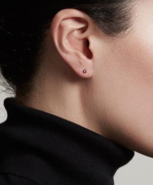 Gold Plated Vermeil Silver Linia Rhodolite Stud Earrings