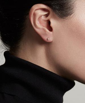 Gold Vermeil Linia Rainbow Moonstone Stud Earrings