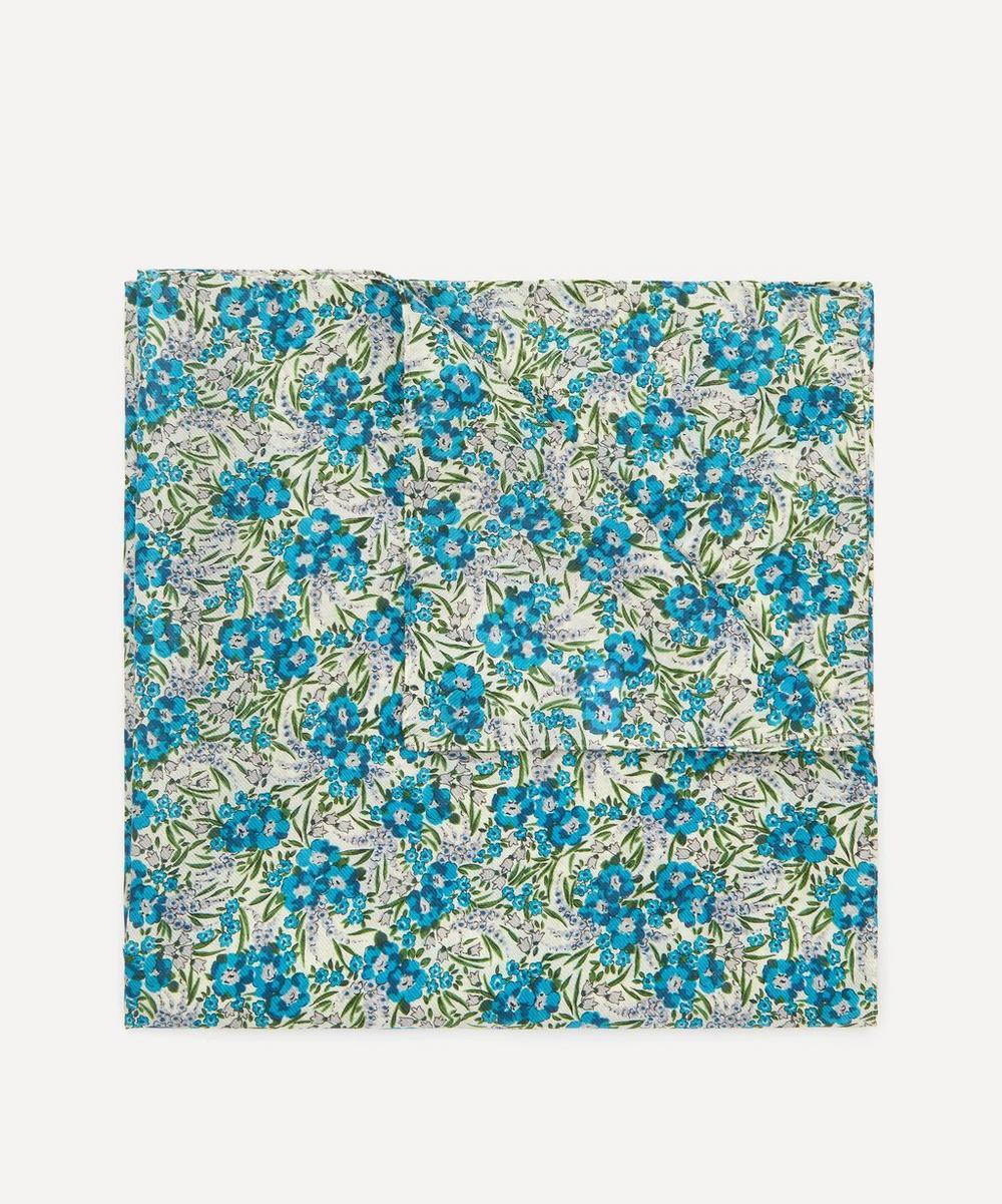 Small Swirling Petals Silk-Cotton Handkerchief
