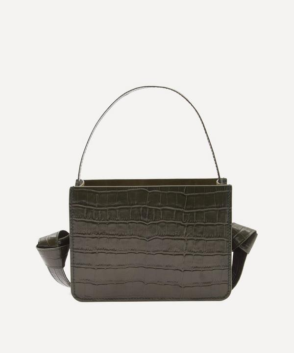 Guaria Mini Croc-Embossed Leather Handbag