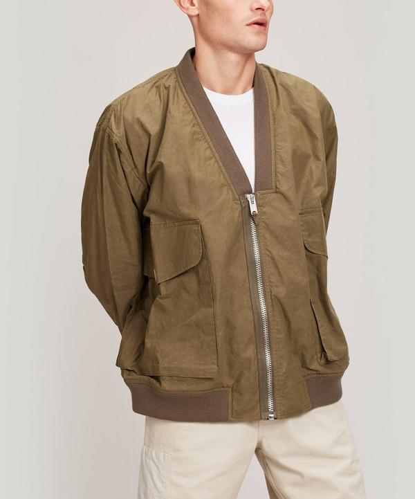 Paninaro Collarless Bomber Jacket