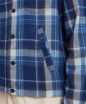 Patchwork Check Cotton Bowling Shirt
