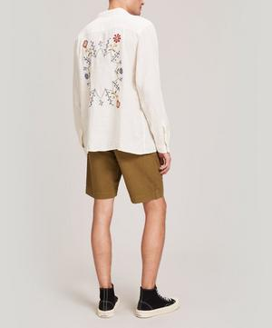Embroidered Linen Feathers Shirt