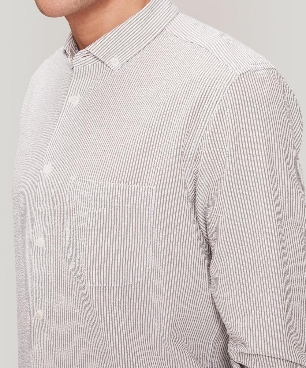 Dean Fine Stripe Seersucker Shirt