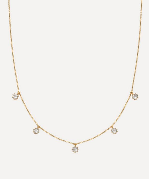 Gold Vermeil Linia Rainbow Moonstone Choker Necklace
