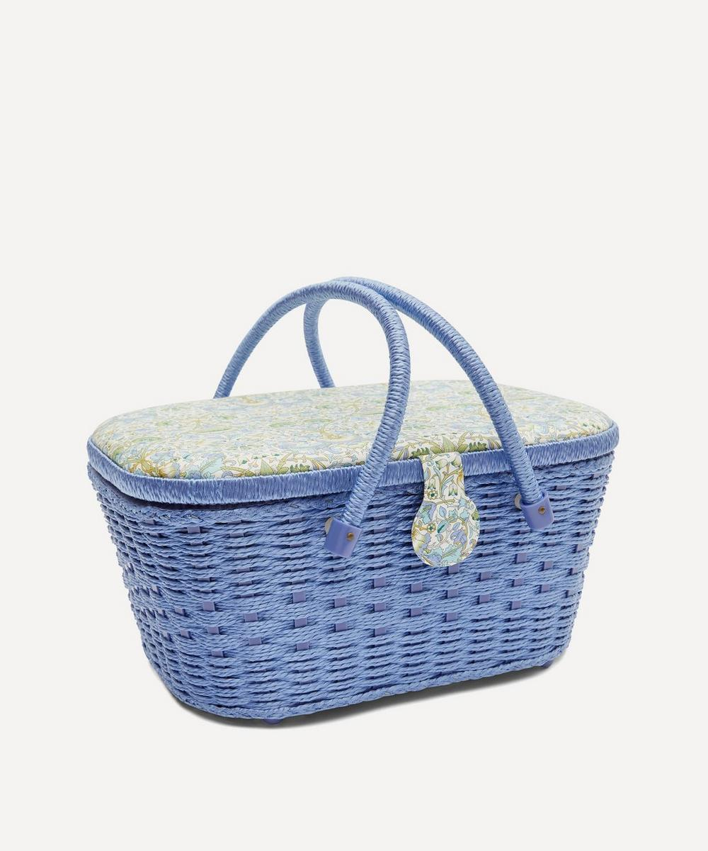 Lodden Print Hamper Sewing Basket