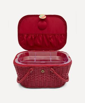Margaret Annie Print Hamper Sewing Basket