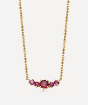 Gold Plated Vermeil Silver Mini Linia Rhodolite Pendant Necklace