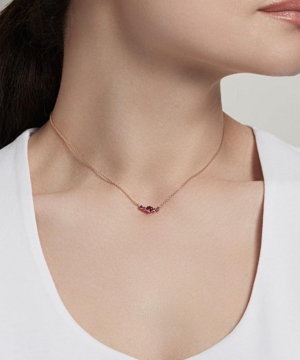 Gold Vermeil Mini Linia Rhodolite Pendant Necklace