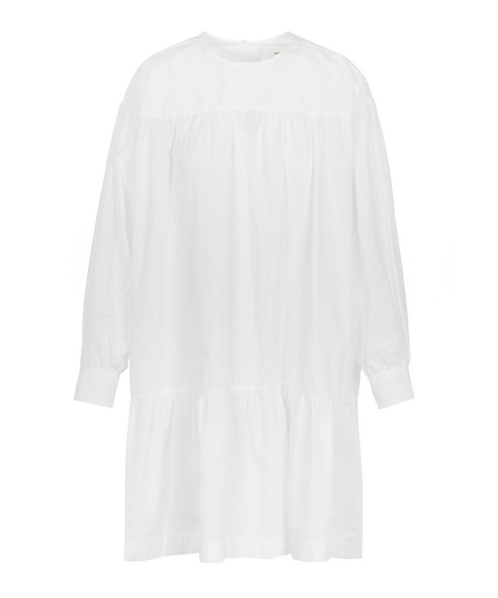 Dina Tiered Cotton Mini-Dress