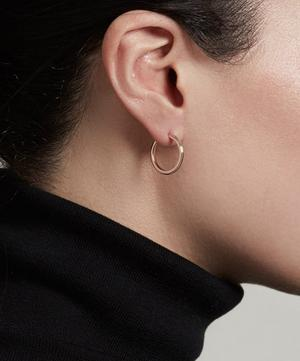 Rose Gold Vermeil Small Linia Hoop Earrings