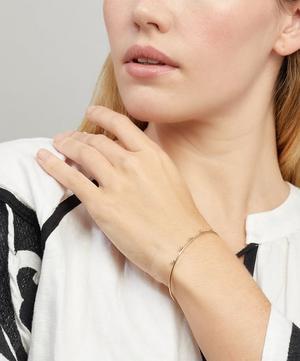 Gold Five Diamond Cuff Bracelet