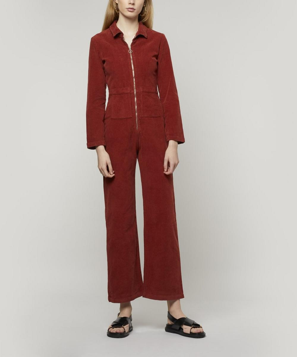 Paufi Long Sleeve Velveteen Jumpsuit