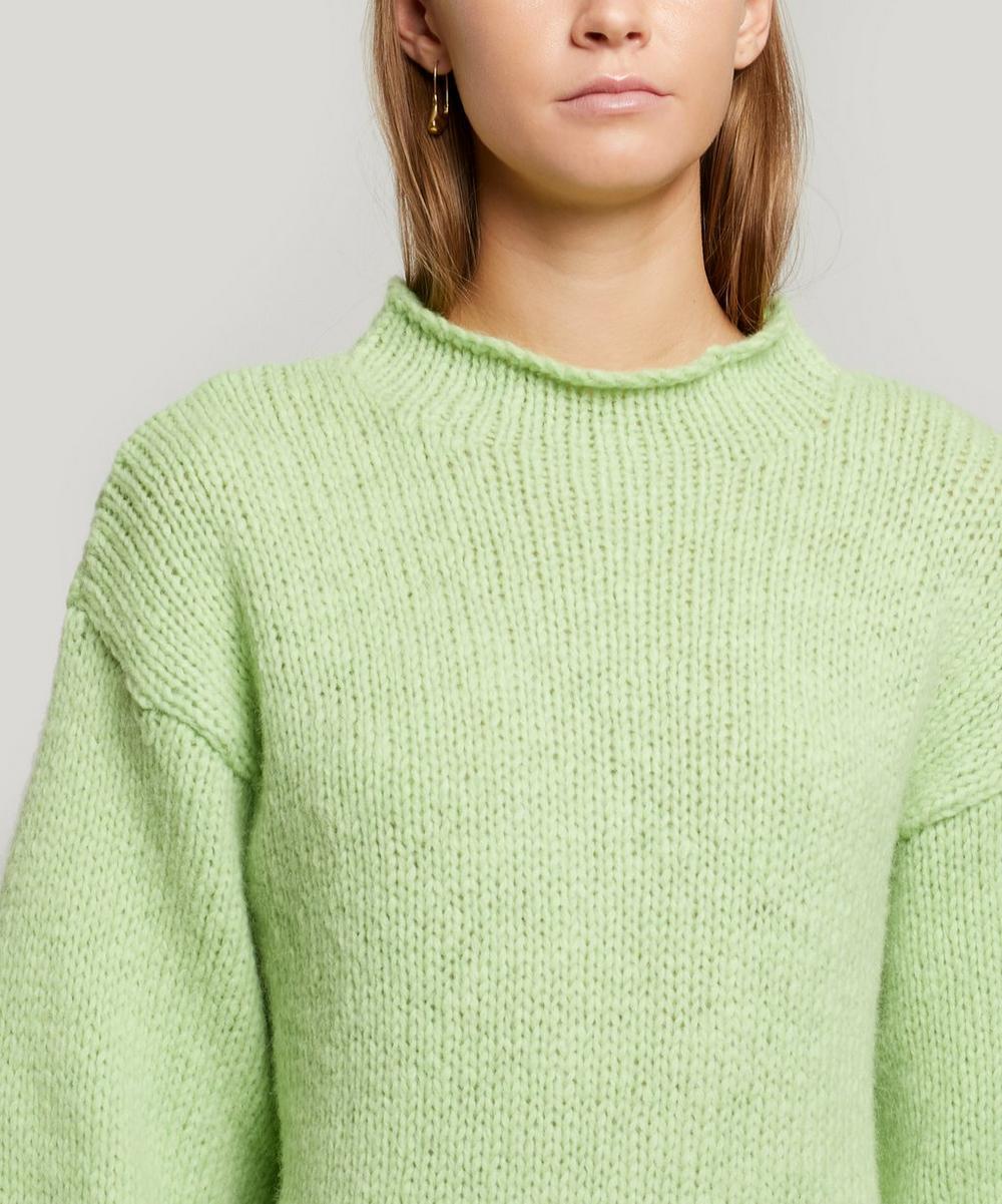 Noche Perkins High-Neck Alpaca-Blend Sweater