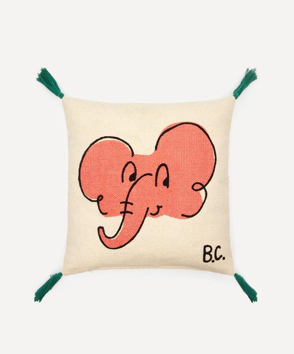 Elephant Cotton Cushion Cover