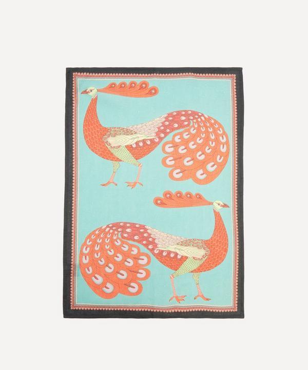 Liberty - Peacock Garden Linen Tea Towel