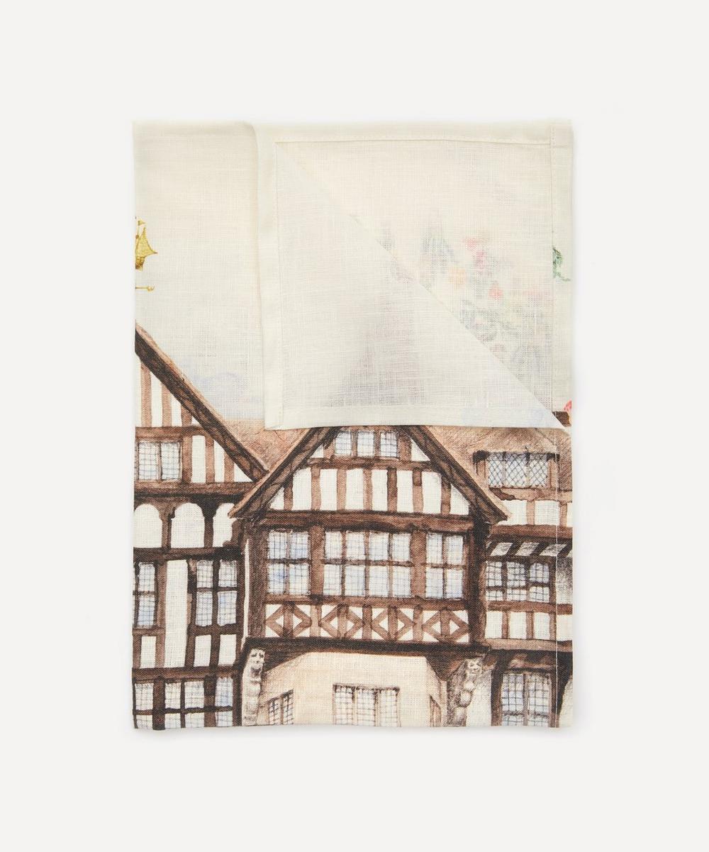 The Liberty Building Linen Tea Towel