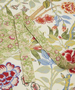 Bamboo Garden and Strawberry Thief Linen Apron