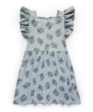 Pineapple Jersey Ruffle Dress 2-8 Years