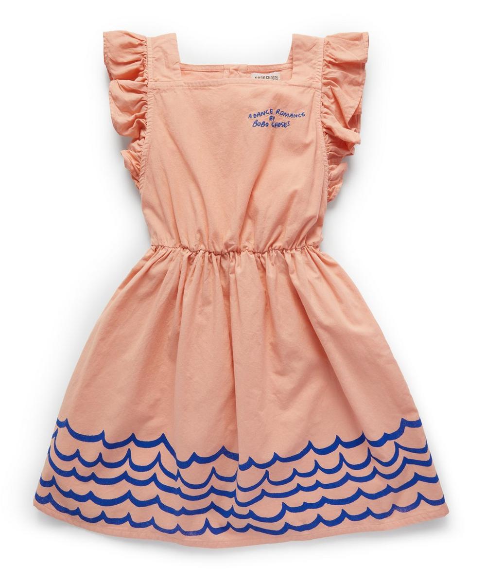 Waves Woven Ruffle Dress 2-8 Years