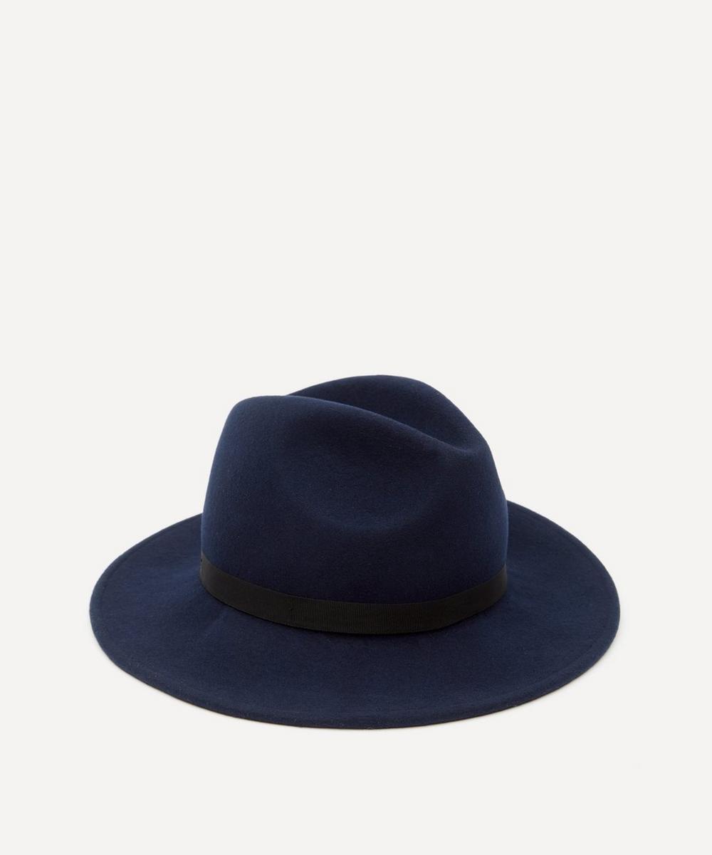 Swirl Lined Wool Fedora Hat