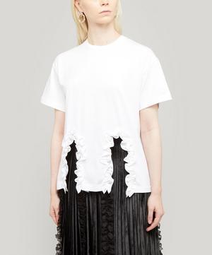 Frill Cut-Out T-Shirt