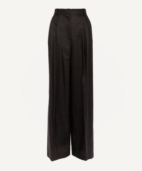 Benton Wide-Leg Linen-Blend Trousers
