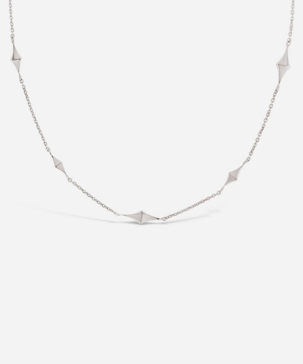 Dinny Hall - Silver Almaz Short Charm Necklace