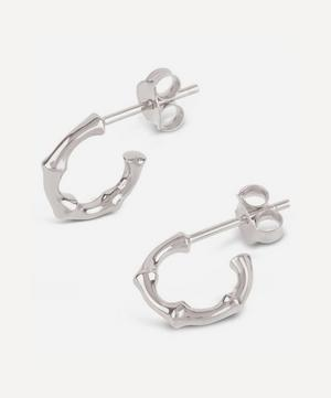 Silver Bamboo Mini Hoop Earrings