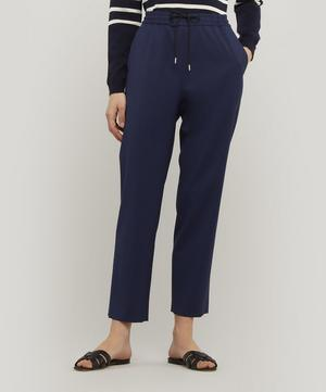 Wool-Blend Tapered Drawstring Trousers