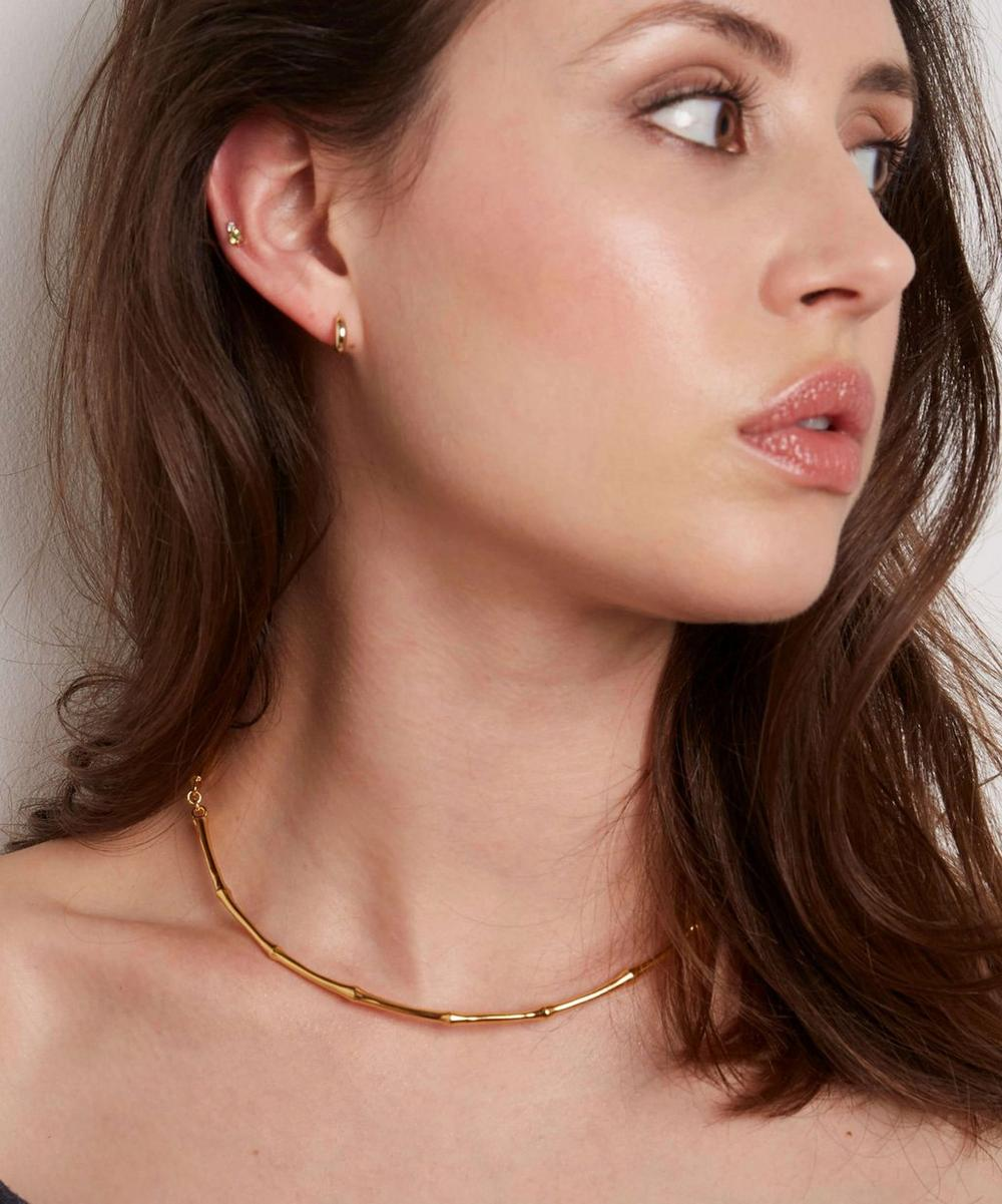Gold Vermeil Bamboo Choker Necklace